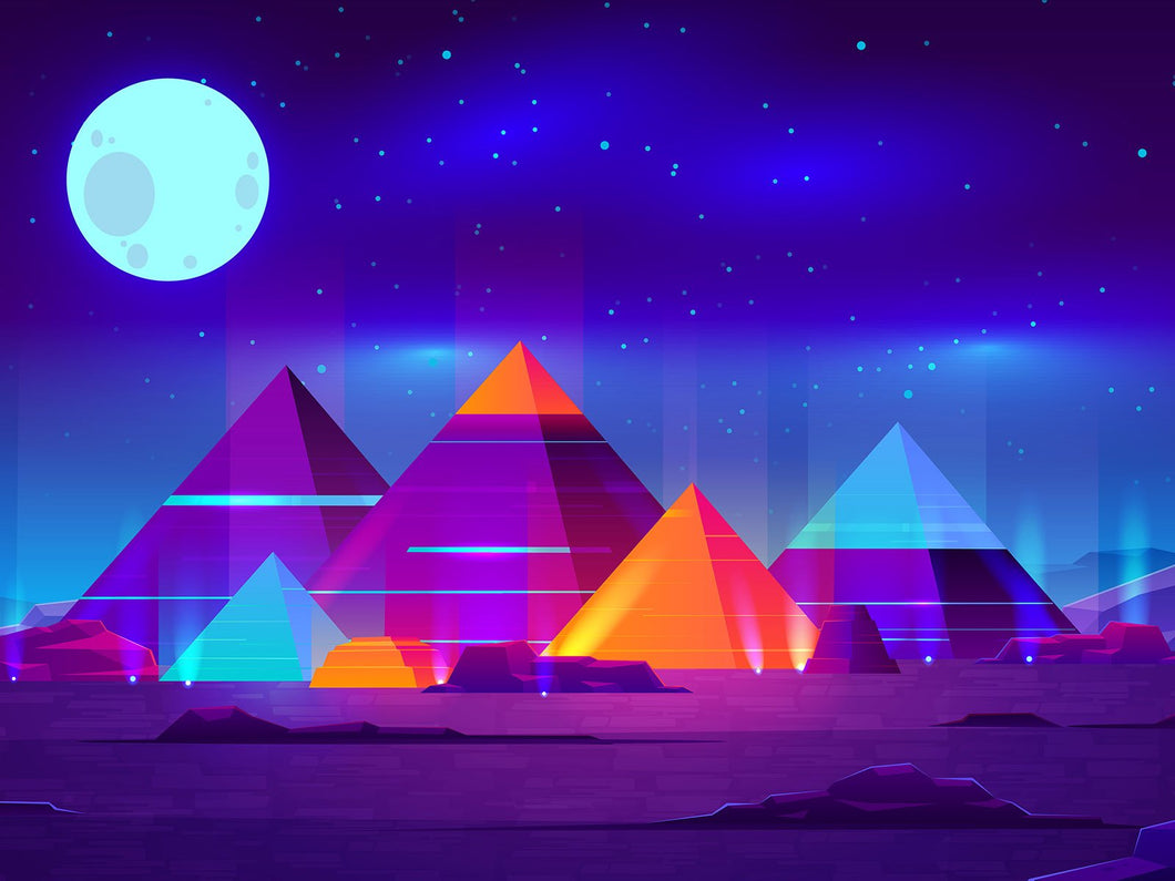 pyramids paint by number