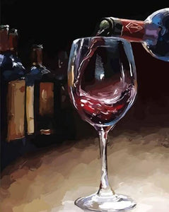 Delicious Wine of Life - DIY Painting