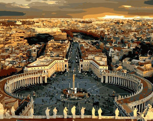 Amazing View of St. Peter's Basilica - Paint by Numbers