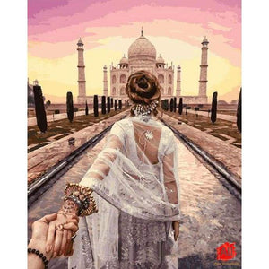 Paint By Numbers - Majestic Taj Mahal