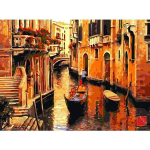 Venice Street Vintage Painting - Paint By Numbers