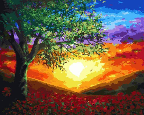 Sunset Paint by Numbers