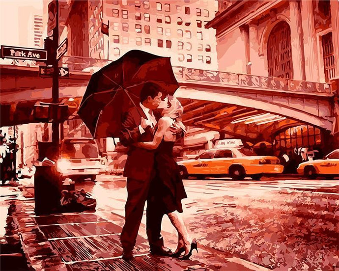 Vintage Scenery of Warm Kiss