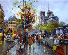 Load image into Gallery viewer, Beautiful Painting of Busy Streets