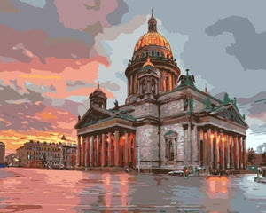 Stunning Painting of saint isaac's cathedral