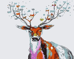 Weird Painting of Deer Man - Animals DIY Kits