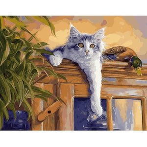 cat painting by numbers