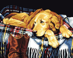 Painting of Adorable Puppies - DIT Painting