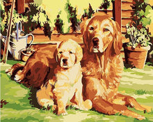 Load image into Gallery viewer, Painting of Adorable Puppies - DIT Painting