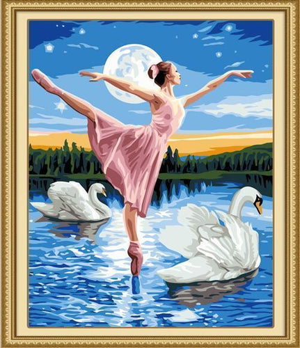 ballerina paint by numbers