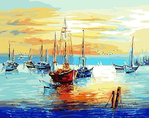 Amazing painting of Sea View Ships