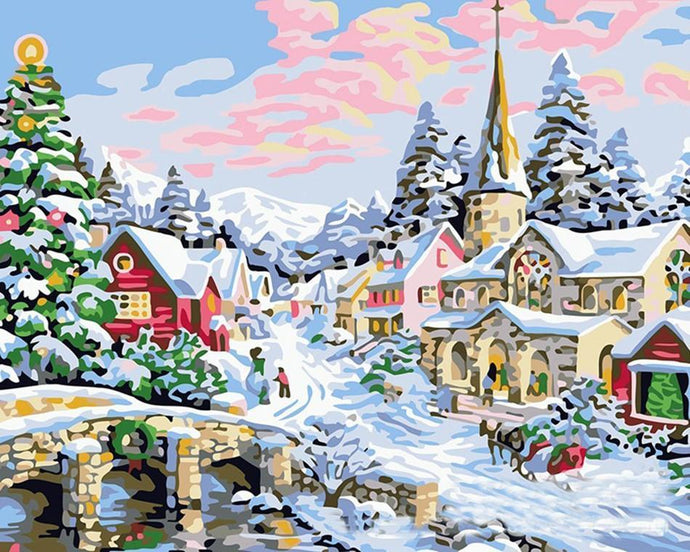 christmas art by numbers