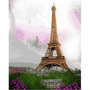 22+ Unframed and Framed Modern City, Eiffel Tower Paint by Number Kits
