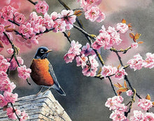 Load image into Gallery viewer, Adorable Bird Under Sakura Tree