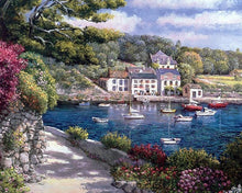 Load image into Gallery viewer, River, Boars and Houses Painting - Paint by Numbers