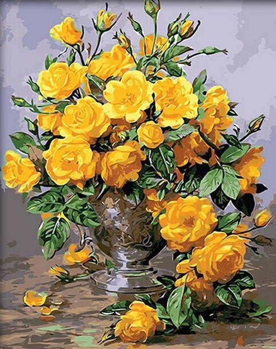Magnificent Painting of Yellow Flowers