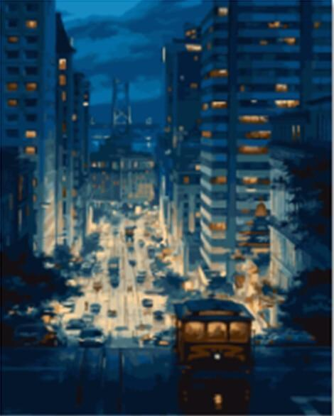 Outstanding Painting of Urban Life