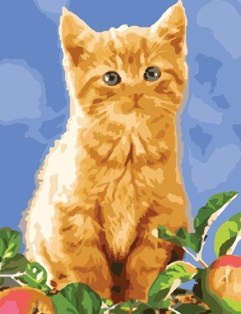 Painting of Adorable Orange Kittens