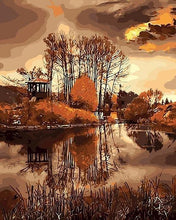 Load image into Gallery viewer, Amazing Painting of Forest In Autumn DIY Paint by numbers Kit