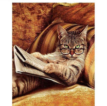 Load image into Gallery viewer, Adorable Painting of Mr Cat