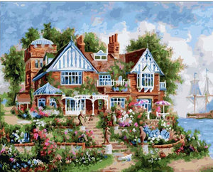 Painting of Beautiful Big Villa