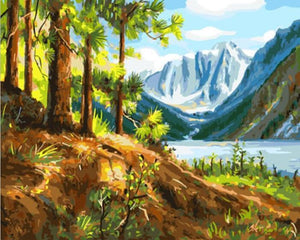 Beautiful Painting of Green Valley