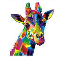 Load image into Gallery viewer, Colorful Giraffe Painting