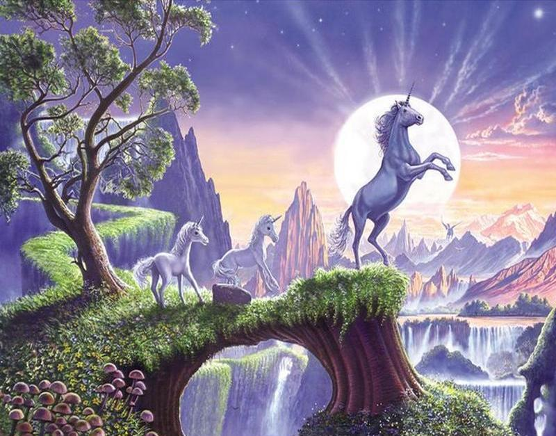 Painting of Mythical Pegasus