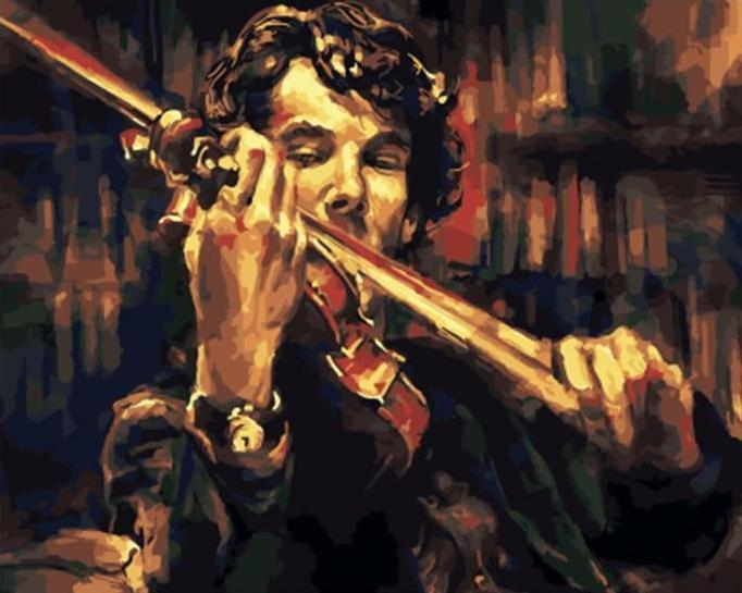 Stunning Painting of Violinist