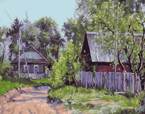 Painting of Abondened Cottages - Paint By Numbers