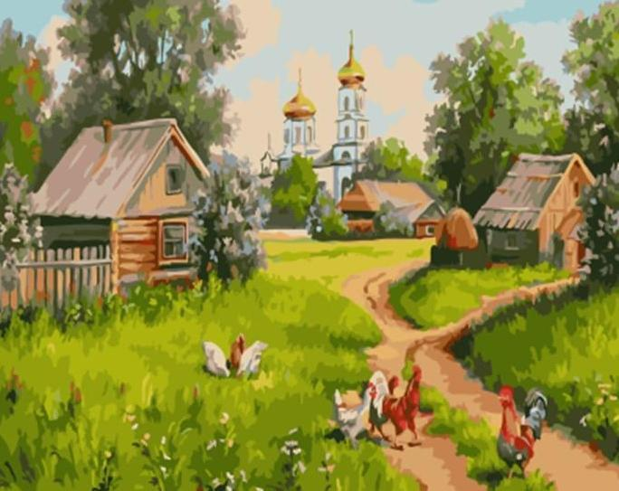 Beautiful Painting Of Farm Animals