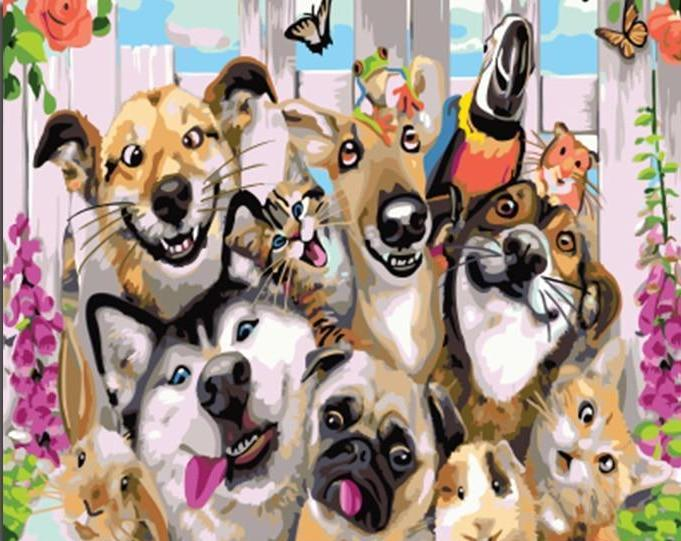 Amazing painting of  Pets Party