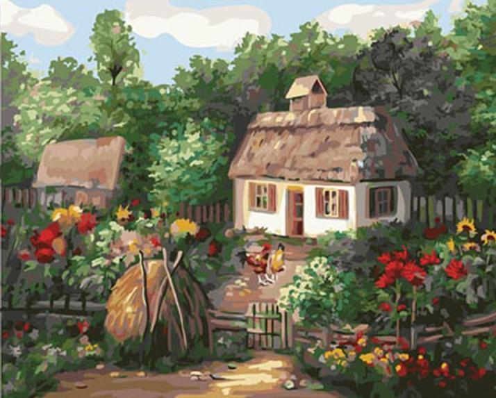 Stunning Scenery of Cottage Among The Flowers