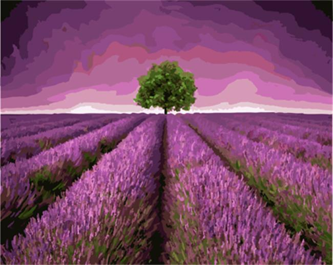 Stunning Purple Fields Painting
