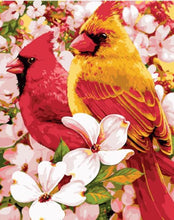 Load image into Gallery viewer, Adorable Cardinal Birds in Flowers