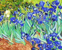 Load image into Gallery viewer, blue flowers van gogh painting