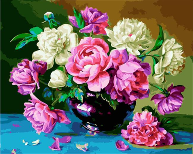 Painting of Beautiful Peonies