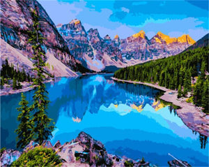 Beautiful Painting of Moraine Lake Canada