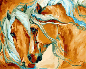 Beautiful Painting of Horse's Couple