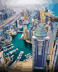 Amazing Scenery of Dubai From Heights