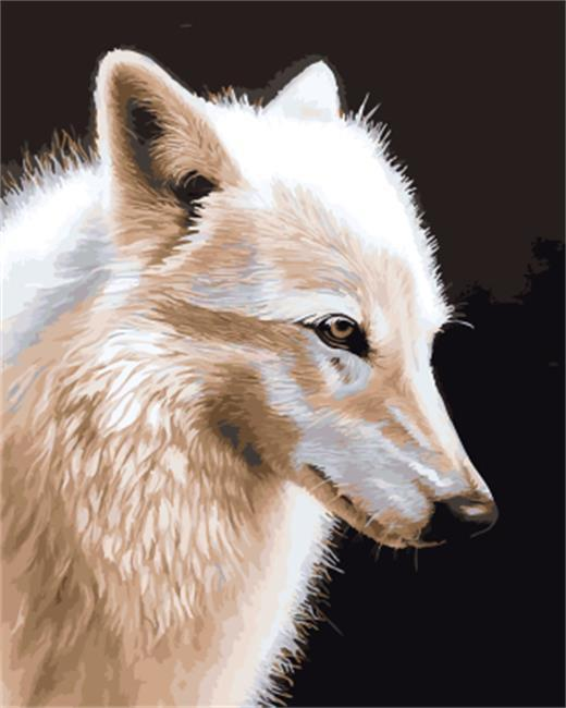 Stunning Painting of White Wolf