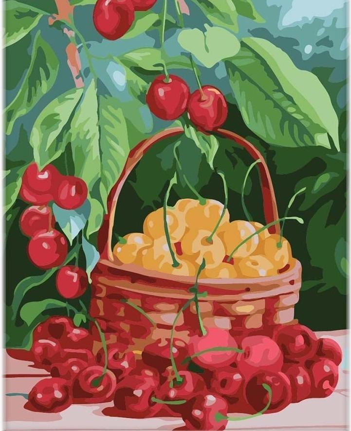 Painting of Gift of Cherry's Basket