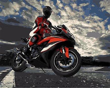 Load image into Gallery viewer, Stunning Painting of Moto Racer