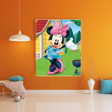 Load image into Gallery viewer, Pink Mickey Mouse Paint By Numbers Kit