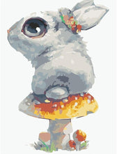 Load image into Gallery viewer, Adorable Rabbit Owns Mushroom - Paint By Numbers