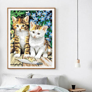 Adorable Painting of Kittens