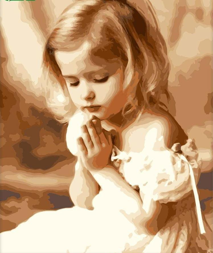 Adorable Little Girl Praying