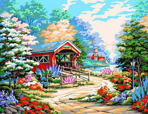 Painting of Dream Cottage with Lovely Garden