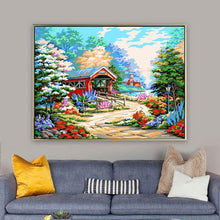 Load image into Gallery viewer, Painting of Dream Cottage with Lovely Garden