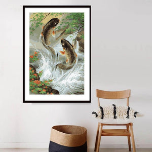 Stunning Painting of Trout Fishes